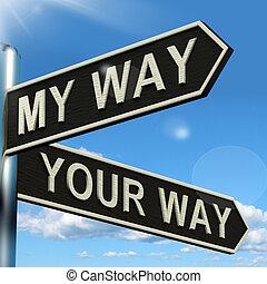 poste indicador, actuación, desacuerdo, o, manera, mi, su, conflicto