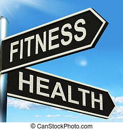 poste indicador, trabajo, bienestar, salud, condición física, exposiciones, afuera