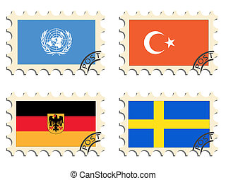 poste, sellos, países