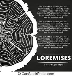 Poster con anillos de árbol diseño