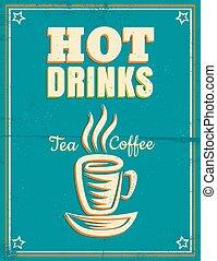 Poster con bebidas calientes