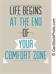 Poster con eslogan motivacional