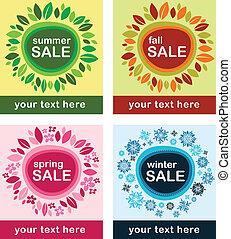 posters de ventas estacionales