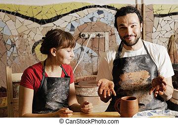Potters con jarra