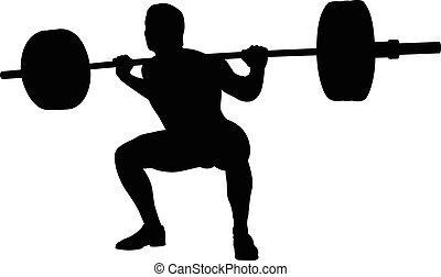 powerlifter, atleta, joven