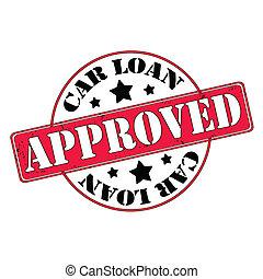 préstamo coche, aprobado