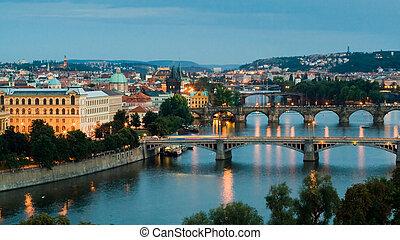 Praga y el río Vltava