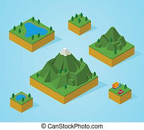 Pre asamblea isometría de mapa-montaña