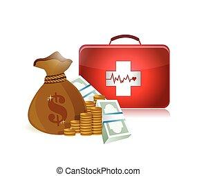 Precios de atención médica diseño de ilustraciones