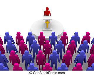 predicador, sermón, pastor, church.