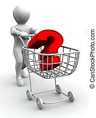 pregunta, consumer's, cesta