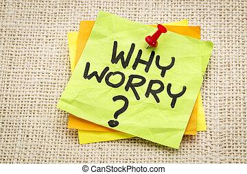 pregunta, por qué, preocupación