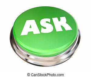 Pregunta pregunta, busca información, ayuda, animación 3D