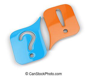 Pregunta y signos de exclamación