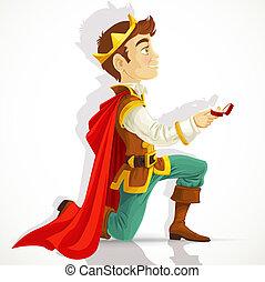 preguntar, matrimonio, príncipe charming