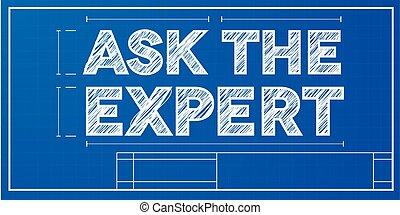 pregunte, experto, cianotipo