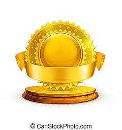 Premio de oro, vector