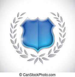 premio, diseño, protector, ilustración