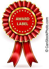 premio, etiqueta