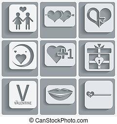 Prepara los iconos del día de San Valentín