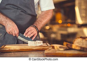 Preparación de cocina dentro