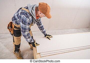 preparando, materiales de construcción