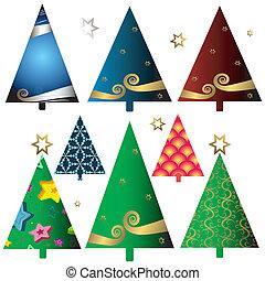Preparen árboles de Navidad