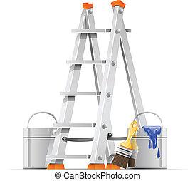 Preparen herramientas de pintor