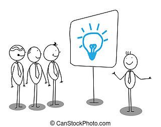 Presentación de empresarios