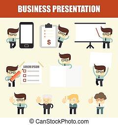 Presentación de hombre de negocios