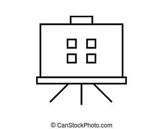 Presentación de símbolo de ilustración vector en el fondo blanco