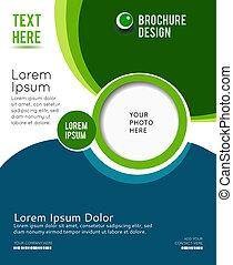 Presentación elegante de poster de negocios, portada de revista, plantilla de diseño