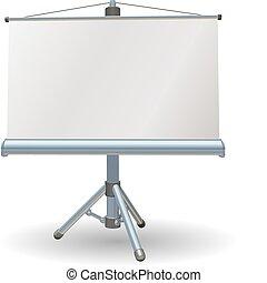 Presentación en blanco o pantalla rodante