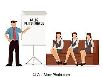 presentation., dar, empresa / negocio, entrenador, orador