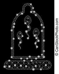 Preservación de esperma de red de malla con puntos ligeros