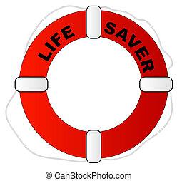 preserver, salvador vida, rojo, palabras, blanco