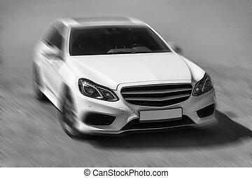 prestigious, blanco, coche