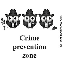 prevención, zona, crimen