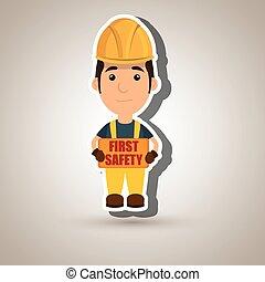 Primer icono trabajador de seguridad