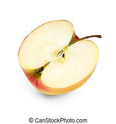 Primer plano de rebanada de manzana
