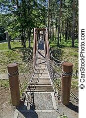 Primer plano del puente de la cuerda