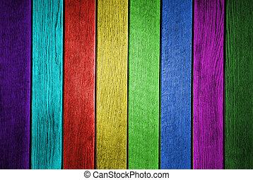 primer plano, grunge, coloreado, foto, textura, tablón