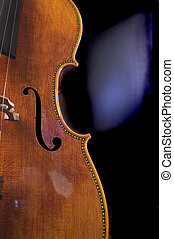 primer plano, violoncelo