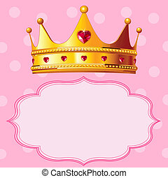 Princesa corona en rosa