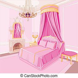 princesa, dormitorio