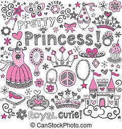 Princesa tiara dibujada