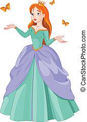Princesa y mariposas