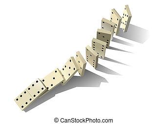 Principio Domino. Ilustración del vector