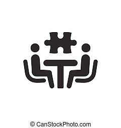 Problemas de negocios resolviendo iconos