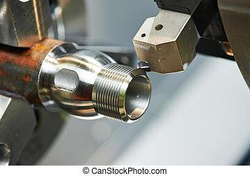 Proceso de metal en maquinaria